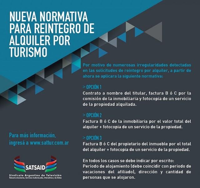 Normativa de Reintegros Turismo